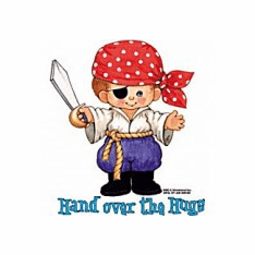 Infant baby toddler kids Little boy Pirate Hand over the hugs