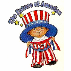 Infant baby toddler kids little boy The future of Amerca USA Patriotic Americana