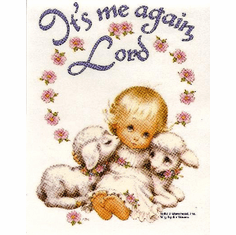 Infant baby toddler kids little girl lambs It's me again Lord