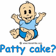 Infant baby toddler kids Patty cake?