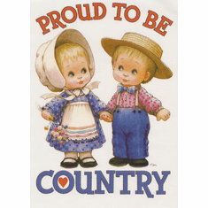 Infant baby toddler kids Proud to be Country little boy and girl
