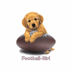 Infant baby toddler kids puppy dog doggy Football girl