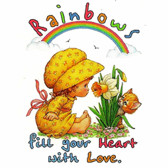 Infant baby toddler kids Rainbows fill your heart with love