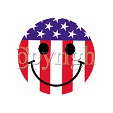 Infant baby toddler kids Red White Blue Patriotic Smiley face Smile