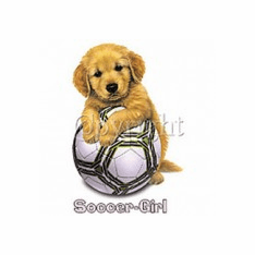 Infant baby toddler kids soccer girl puppy dog doggy