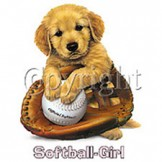 Infant baby toddler kids Softball girl puppy ball glove