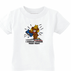 Infant baby toddler kids t-shirt 8 eight seconds is no big deal I scream longer than that teddy bear horse on a stick