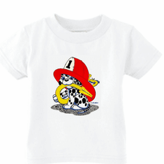 Infant baby toddler kids t-shirt dalmatian firefighter fireman puppy dog doggy