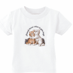Infant baby toddler kids t-shirt Friends know when to give hugs kitten kitty cat