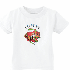 Infant baby toddler kids t-shirt I love my daddy