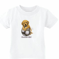 Infant baby toddler kids t-shirt soccer girl puppy dog doggy