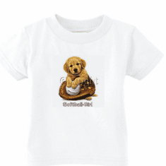 Infant baby toddler kids t-shirt  Softball girl puppy ball glove