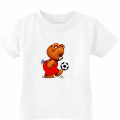 Infant baby toddler kids t-shirt teddy bear soccer ball