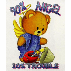 Infant baby toddler kids teddy bear 90% Angel 10% trouble