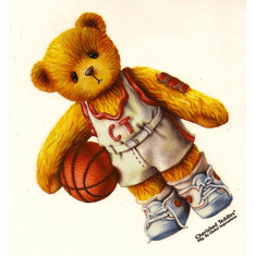 Infant baby toddler kids teddy bear basketball player