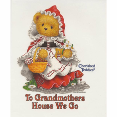 Infant baby toddler kids teddy bear little red riding hood bear To Grandmother's house we go