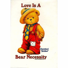 Infant baby toddler kids teddy bear Love is a Bear Necessity