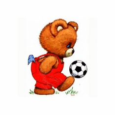 Infant baby toddler kids teddy bear soccer ball