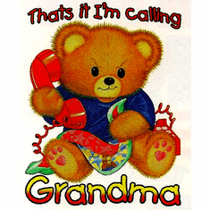 Infant baby toddler kids teddy bear That's it I am calling GRANDMA