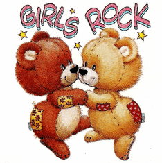 Infant baby toddler kids Teddy bears dancing Girl's Rock