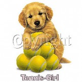 Infant baby toddler kids Tennis girl puppy dog doggy
