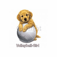 Infant baby toddler kids Volleyball girl puppy dog doggy
