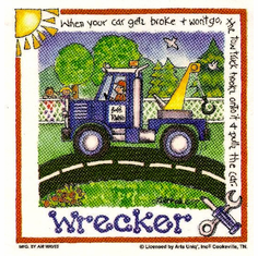 Infant baby toddler kids Wrecker truck driver