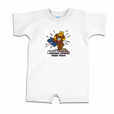 Infant baby toddler Romper body suit one piece 8 eight seconds is no big deal I scream longer than that teddy bear horse on a stick