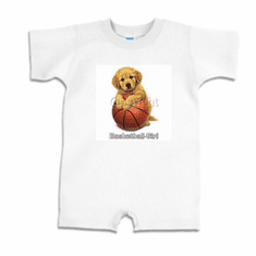 Infant baby toddler Romper body suit one piece Basketball girl puppy dog doggy
