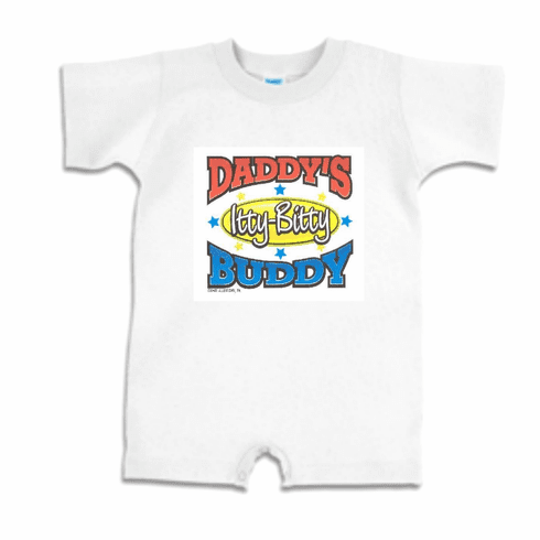 Infant baby toddler Romper body suit one piece Daddy's Itty Bitty Buddy