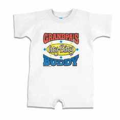 Infant baby toddler Romper body suit one piece Grandpa's Itty Bitty Buddy