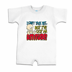 Infant Baby toddler Romper body suit one piece I can't talk yet but I've got an ATTITUDE