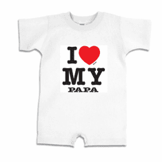 Infant baby toddler Romper body suit one piece I love my papa