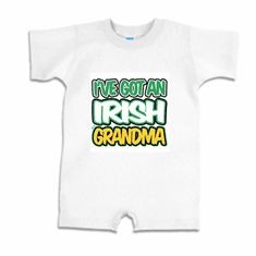 Infant baby toddler Romper body suit one piece I've got an Irish Grandma