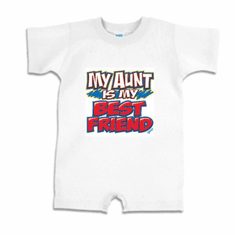 Infant baby toddler Romper body suit one piece My Aunt is my best friend