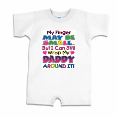 Infant baby toddler Romper body suit one piece My finger may be small but I can still wrap my Daddy around it