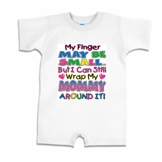 Infant baby toddler Romper body suit one piece My finger may be small but I can still wrap my Mommy around it
