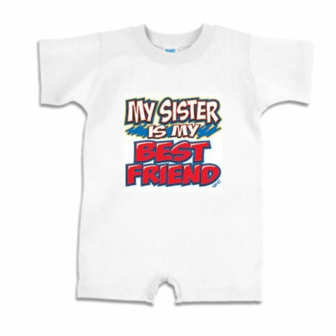 Infant Baby toddler Romper body suit one piece My sister is my best friend