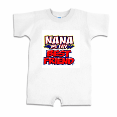 Infant Baby toddler Romper body suit one piece Nana is my best friend