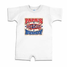 Infant baby toddler Romper body suit one piece Papa's itty bitty buddy