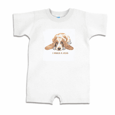 Infant baby toddler Romper body suit one piece puppy dog doggy I need a hug