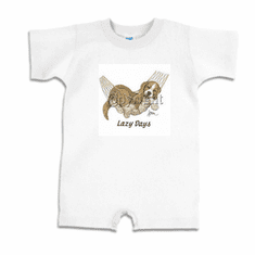 Infant baby toddler Romper body suit one piece puppy dog doggy in a hammock lazy days
