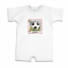 Infant baby toddler Romper body suit one piece Soccer ball sport