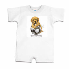 Infant baby toddler Romper body suit one piece soccer girl puppy dog doggy