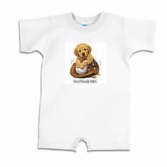 Infant baby toddler Romper body suit one piece Softball girl puppy ball glove
