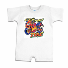 Infant baby toddler Romper body suit one piece Super sport tyke