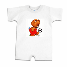 Infant baby toddler romper body suit one piece teddy bear soccer ball