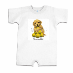 Infant baby toddler Romper body suit one piece Tennis girl puppy dog doggy