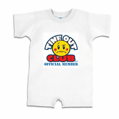 Infant baby toddler romper body suit one piece Time Out Club Official Member