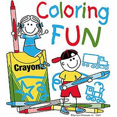 Infant baby toddlers kids Coloring FUN stick figure kids boy and girl crayons